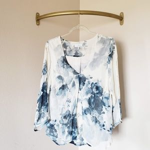 Lucky Brand Blue Watercolor Blouse XL